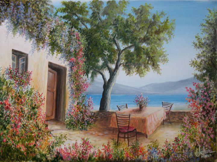 La terrasse au bord du lac. - Gérard JEHIN