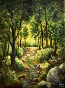Light in the forest - Gérard JEHIN