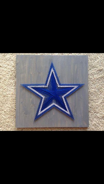 String Art Dallas Cowboys - Things Stringed