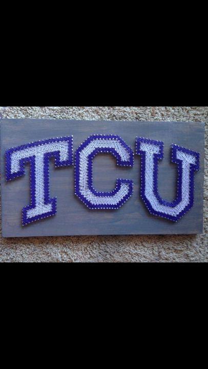 String Art TCU Hornfrogs - Things Stringed