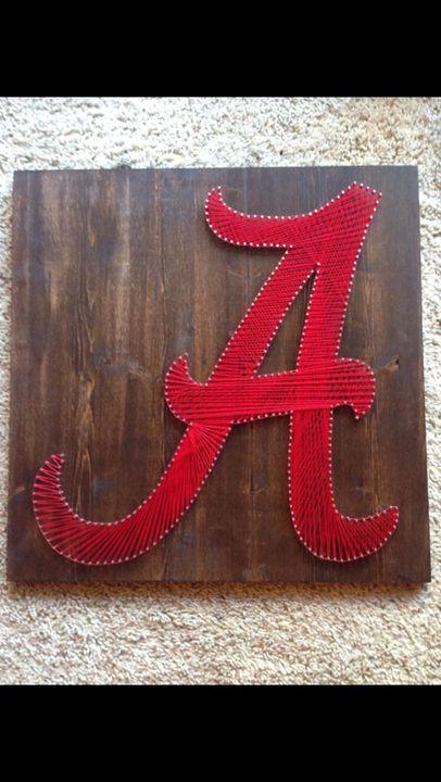 String Art Alabama Crimson Tide - Things Stringed