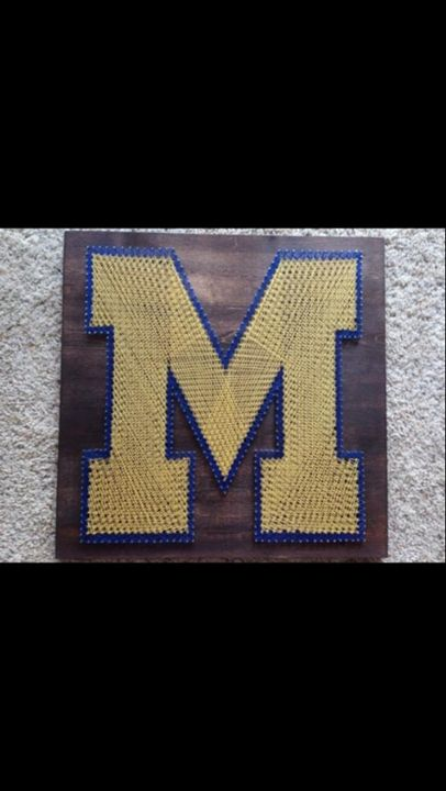 String Art Michigan Wolverines - Things Stringed