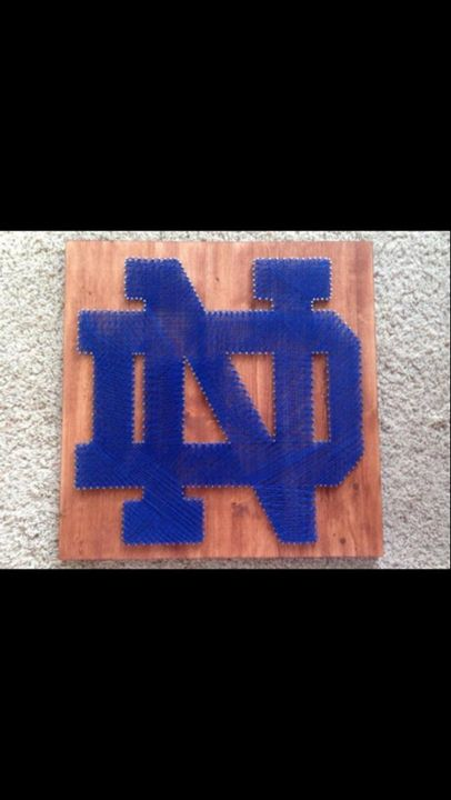 String Art Notre Dame Fighting Irish - Things Stringed