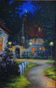 "Original oil painting ""Fairy Night"""