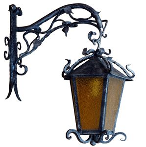 Wrought iron outdoor vintage light