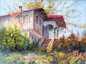 "Original watercolor painting ""House"""