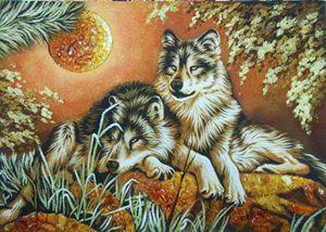 Nature amber handmade picture