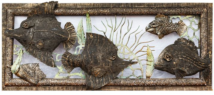 "Wrought metal panel ""Sea life"" - Best artwork"