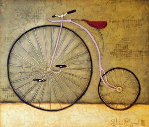 "Oil painting, Vutyanov ""Bicycle"""