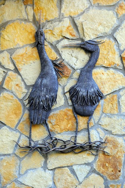 "Wrought metal panel ""Storks"" - Best artwork"