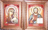 natural amber orthodox icon