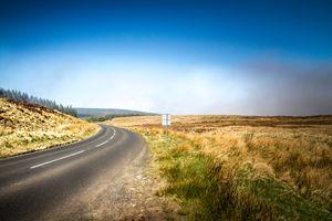 Road to the vanishing lake Lougharee