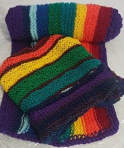Rainbow Beaine & Scraf Set
