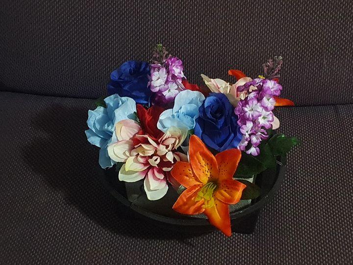 Artificial Flowers Foam LG Basket - RMCreations