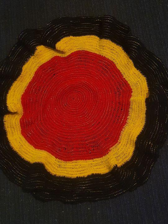 Aboriginal SM Round Mats - RMCreations