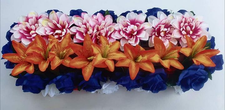 Artificial Flowers Centrepiece - RMCreations