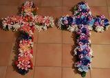 Foam Artificial Flowers Crosses