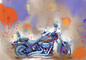Harley Davidson Watercolor