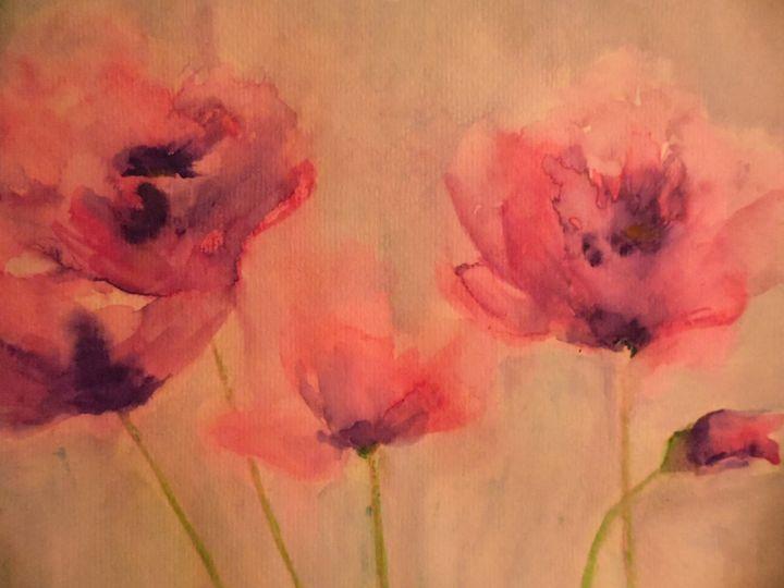 pink flowers - maureen thompson