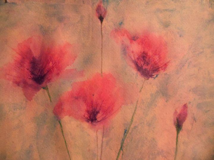 pink poppies - maureen thompson