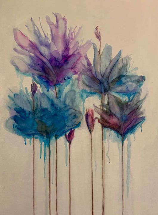 dripping flowers - maureen thompson