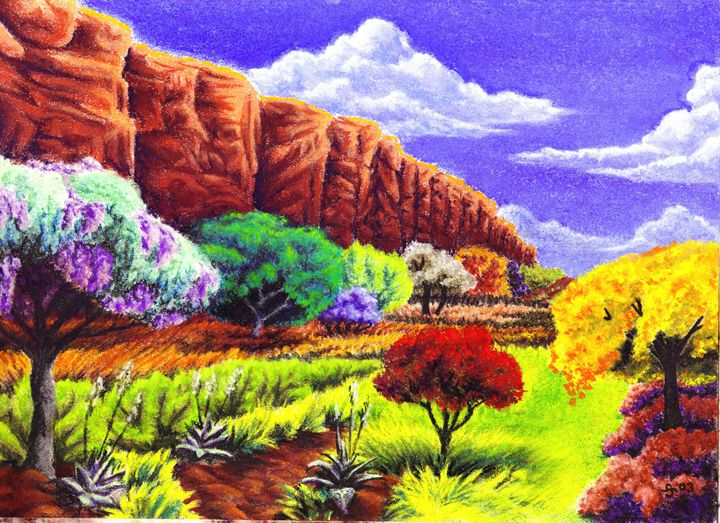 Canyon in Spring - Artistic Expressions