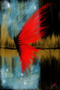 Abstract red butterfly