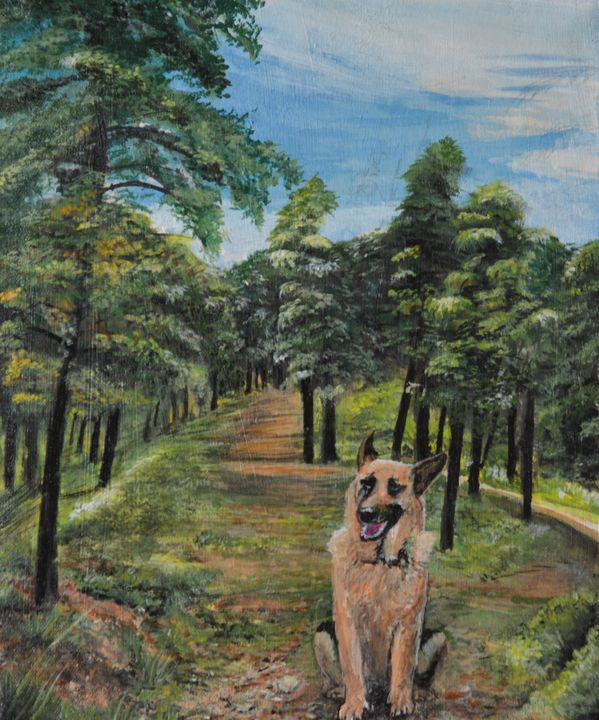 Dog in the woods - Prabhdeep