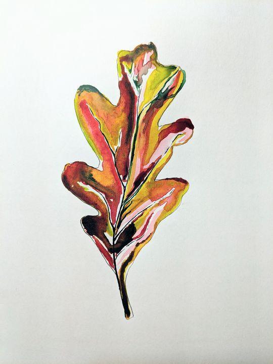 Landscape Portrait of an Oak Leaf - Christie Flemming