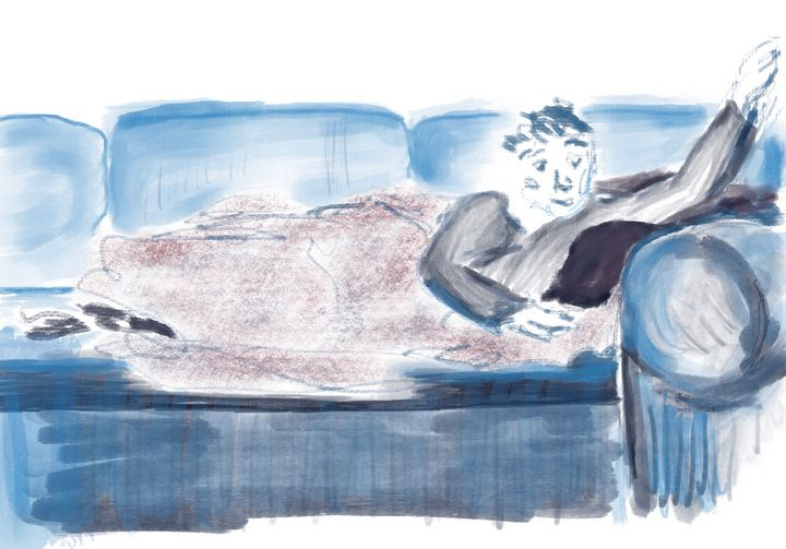 Bluesy Couch Nap - Christie Flemming