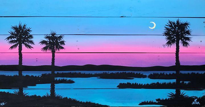 Marsh crystal sunsets - Anchor Down Art