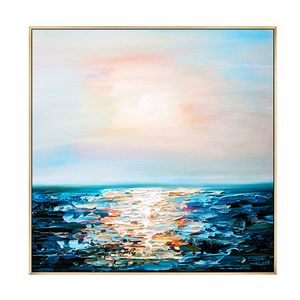 Sea oil painting abstrac