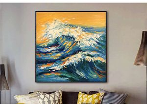 Sea wave oil painting