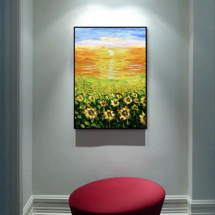 Sunflower oil painting - Ink painting