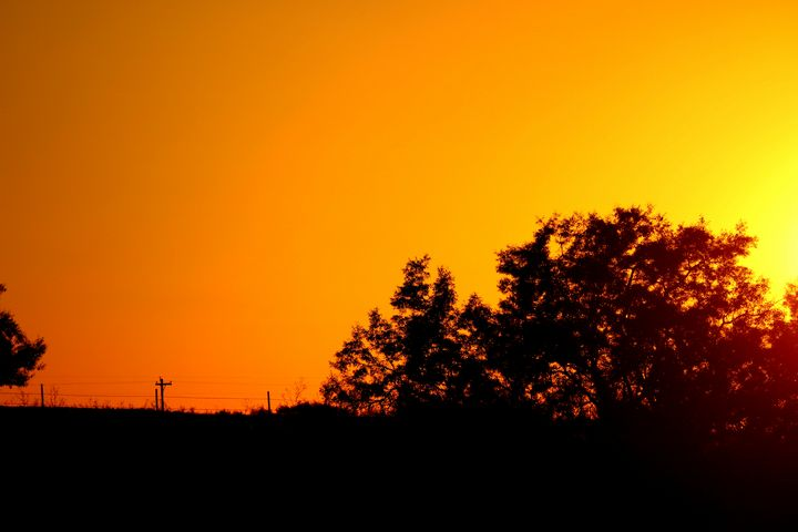 Silhouette at sunset - LaMaccPhotography