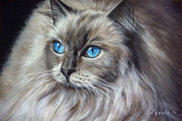Sweet cat - Velina Daskalova Art
