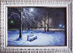 Winter night - Velina Daskalova Art