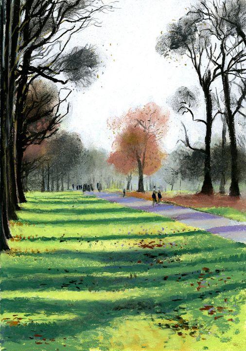 Kensington Gardens in Winter - Andrew Daws Projects
