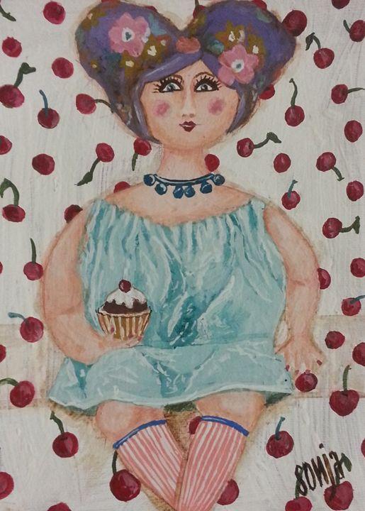 Paper mache doll - Sonja Peacock