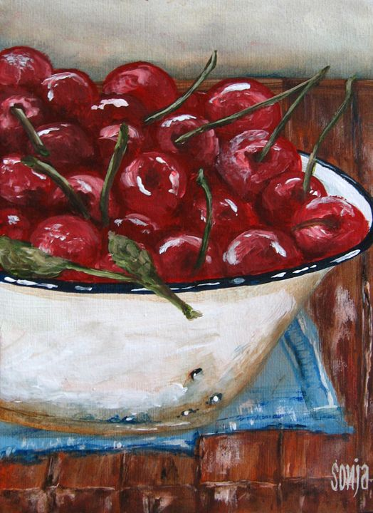 Bowl of cherries - Sonja Peacock