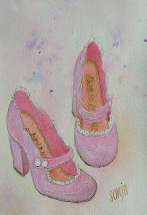 Pink shoes - Sonja Peacock