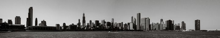Chicago Skyline B&W black and white - Patrick John Photography