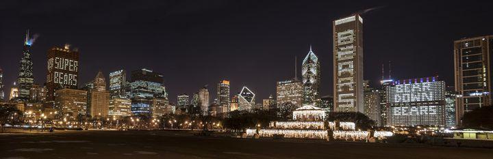 Chicago Bears Skyline - Patrick John Photography