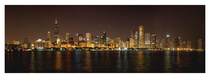 Chicago  NHL Blackhawks skyline - Patrick John Photography