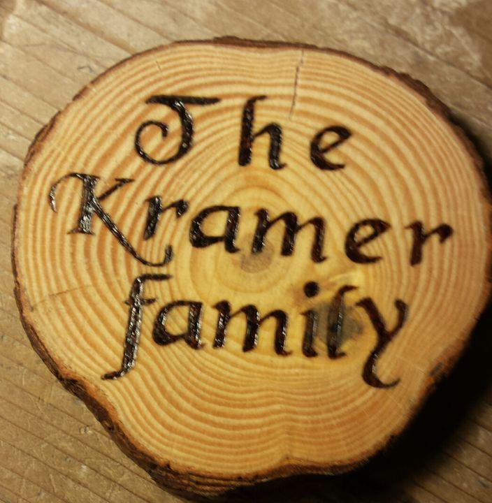 Wood Burned Coaster - Kramer's Design and Repair