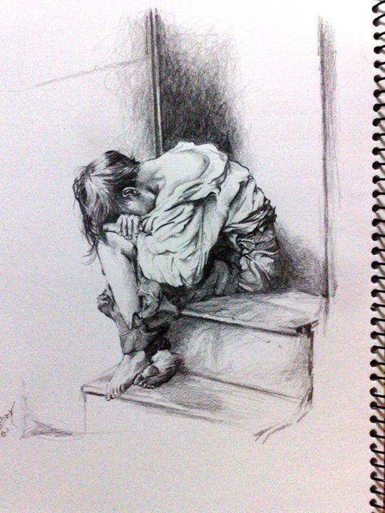 Past stairs - Najwan Fine Art