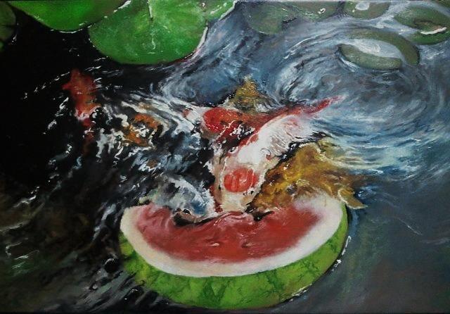 Koi love - Najwan Fine Art