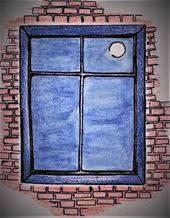 Blue Window Art