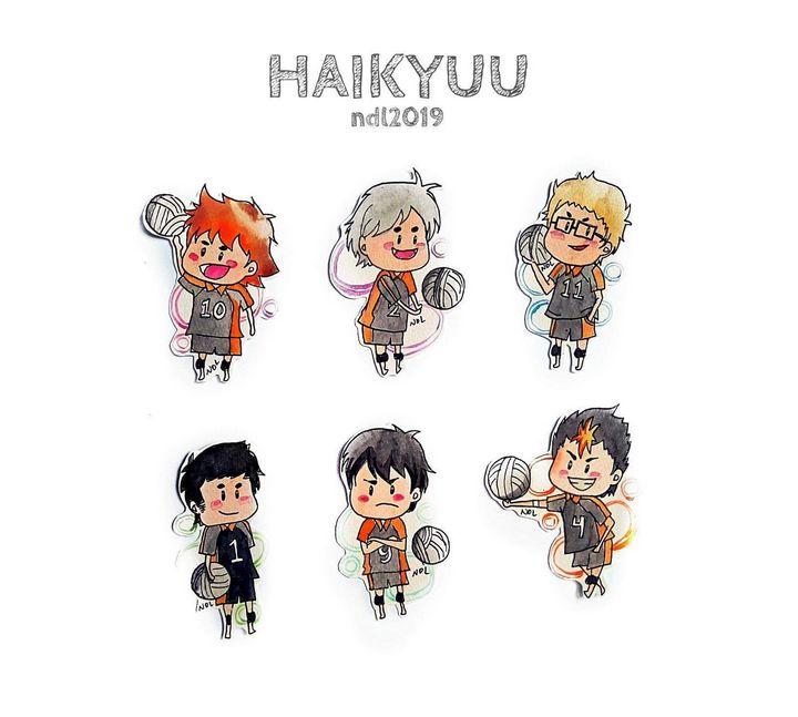 Haikyuu Chibi Stickers - Ahalbae Arts