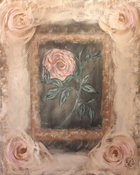 ROSE TAPESTRY - Artist Diane Russo....Creek Road Gallery